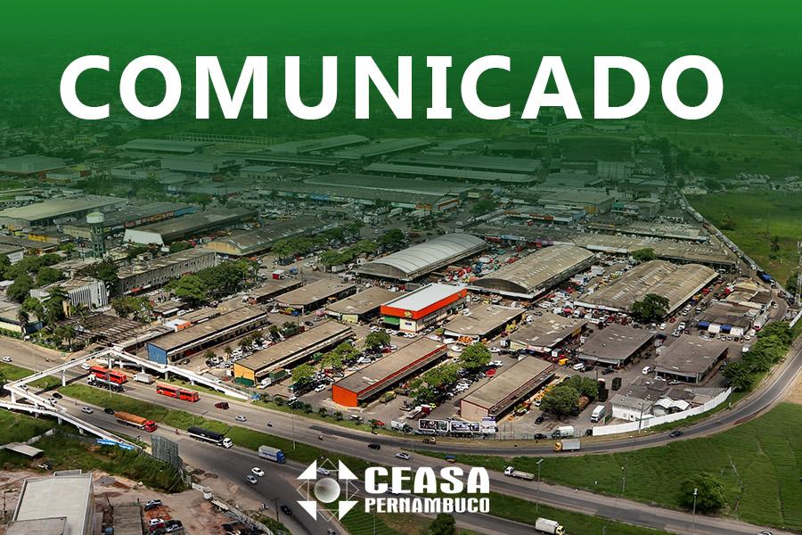 Novo comunicado aos usuários do Ceasa