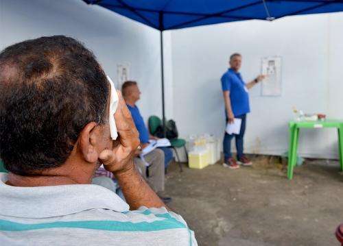 Ceasa e Amopresc realizam ação para promover exames oftalmológicos para motoristas da Associação